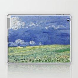 Wheatfield under Thunderclouds Laptop & iPad Skin