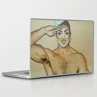 sam smith Laptop & iPad Skins featuring Sam by NathanRapportArt