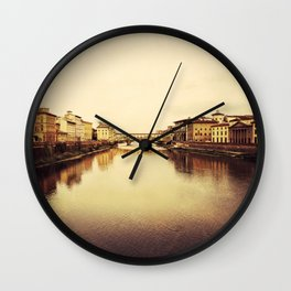 Arno River in Florence Wall Clock