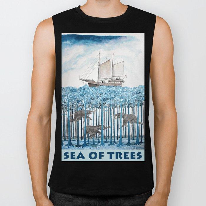 Sea of Trees Biker Tank
