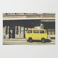 yellow submarine Area & Throw Rugs featuring Yellow submarine by monicamarcov
