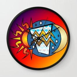 astrology,Aquarius,January Wall Clock