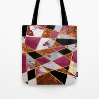 Tote Bags featuring Abstract #448 by Ron Trickett