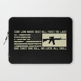 M4 Assault Rifle & Tactical Flag Laptop Sleeve