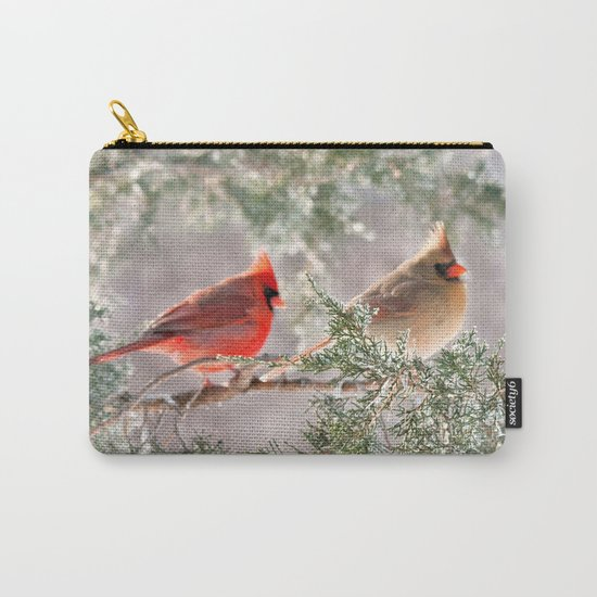 Hoarfrost Cardinals Carry-All Pouch