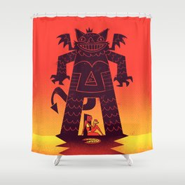 Pizza Demon Shower Curtain