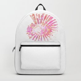 Nautilus Shell Design in Pink, Orange and Purple Paint Pattern  Backpack
