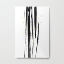 Deco Lines No. 1 - Straight Forward Metal Print