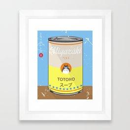 My Neighbor Toto ro - Miyazaki - Special Soup Series  Framed Art Print