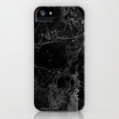 Real Black Marble Slim Case iPhone (5, 5s)