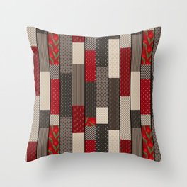 Country motifs . Classic quilting. Throw Pillow