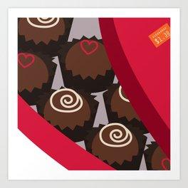 Post Valentine's Day Chocolate Art Print