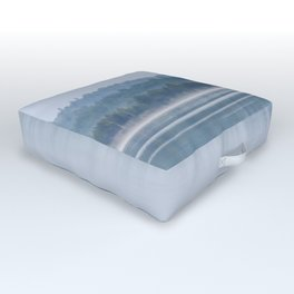 Morning begins with mist Outdoor Floor Cushion