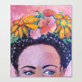 The Muse - a Frida inspired portrait by Anita Revel Canvas Print