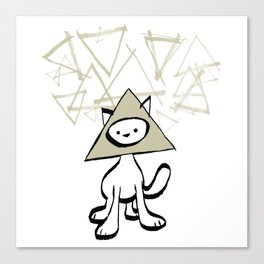 minima - pyramid cat Canvas Print