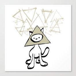 minima - pyramid cat Canvas Print
