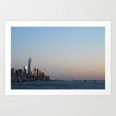 NYC Sunset  Art Print
