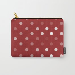 Red and white washed out polka dots Carry-All Pouch