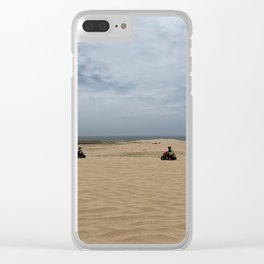Quad biking at Stockton Sand Dunes, Port Stephens, Australia Clear iPhone Case
