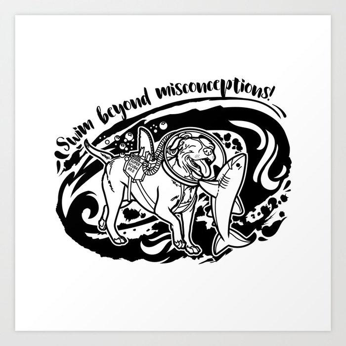 Lexy & Bruce - Swim beyond misconceptions! Art Print