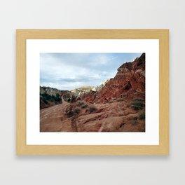 Desert Road. Utah Desert Color Photo. Framed Art Print
