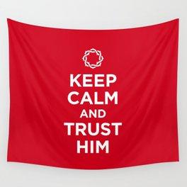 Keep Calm & Trust Him Wall Tapestry