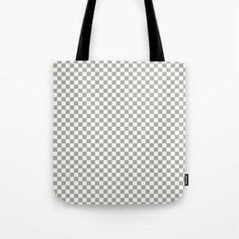 Desert Sage Grey Green and White Check Tote Bag