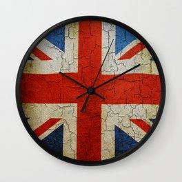 Vintage United Kingdom flag Wall Clock