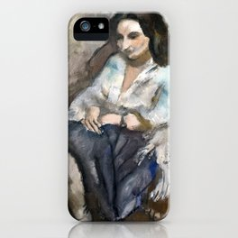 Jules Pascin - Andrée - Modern Expressionism - Andree iPhone Case