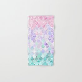 Mermaid Pastel Iridescent Hand & Bath Towel