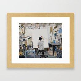 Blank Canvas Framed Art Print