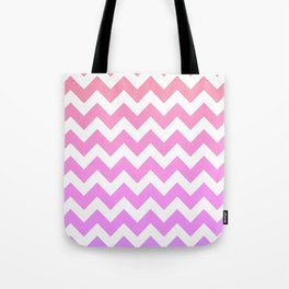Pink Spectrum Chevrons  Tote Bag