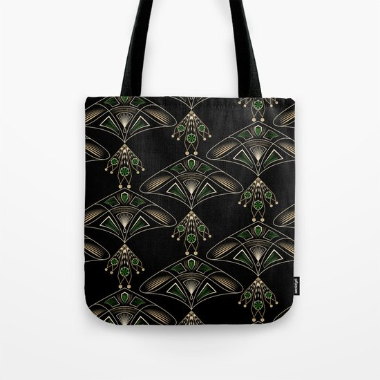 "Art Deco ""Emeralds "" Tote Bag"