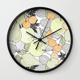 Fruit market . Retro . Wall Clock