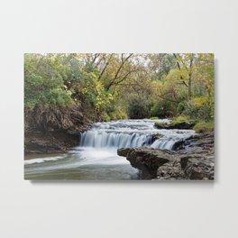 Briggs Woods Lower Waterfall in Autumn Metal Print