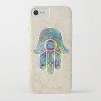 hamsa iPhone & iPod Cases featuring Hamsa by Klara Acel