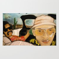 fear and loathing Area & Throw Rugs featuring Fear & Loathing by Lindsey Pudlewski