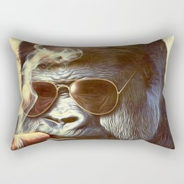 Gorilla in the Mist Rectangular Pillow
