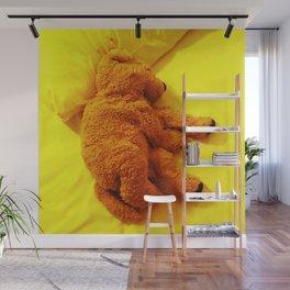 Love is... Teddy dog Wall Mural