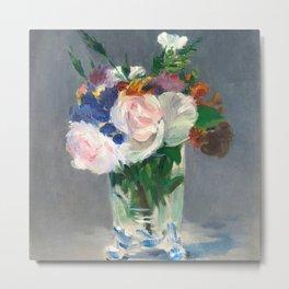 "Édouard Manet ""Flowers in a Crystal Vase"" Metal Print"