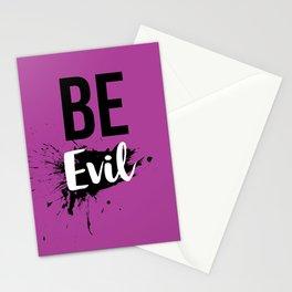 Be Evil Stationery Cards