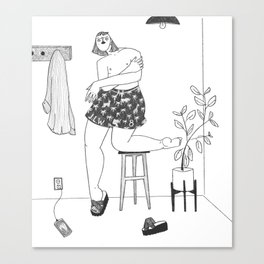 Are those dad's shorts? Canvas Print