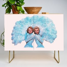 Sisters - White Christmas - Watercolor Credenza