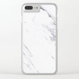 Marble - Classic Real Marble Clear iPhone Case