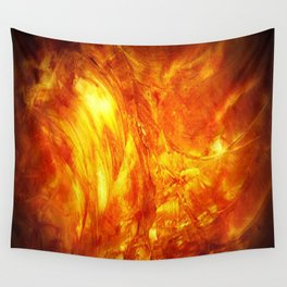 Surface Of The Sun - Leo - Science - Hipster - Hot Wall Tapestry