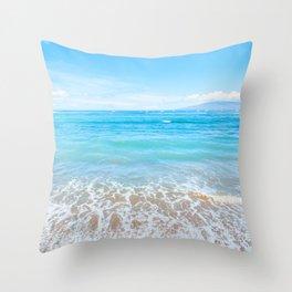 Lahaina Blue Throw Pillow