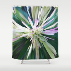 447 - Abstract Flower Design Shower Curtain