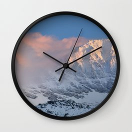 Mulhacen 3479 meters at sunset Wall Clock