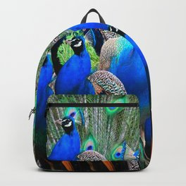 FLOCK OF BLUE PEACOCKS Backpack