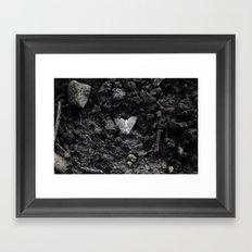 Grey moth Framed Art Print